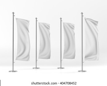 blank vertical flags mock-up