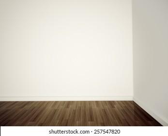 blank walls corner in room