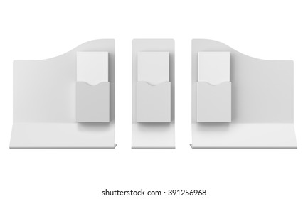 blank wavy shape holders with dl size brochures