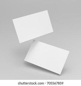 Blank white 3d visiting or bussiness card template 3d render illustration for mock up and design presentation.