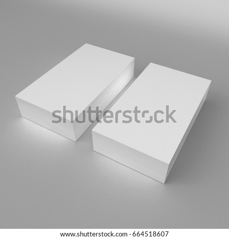 Blank white 3 d visiting card template stock illustration 664518607 blank white 3d visiting card template 3d render illustration for mock up and design presentation flashek Choice Image