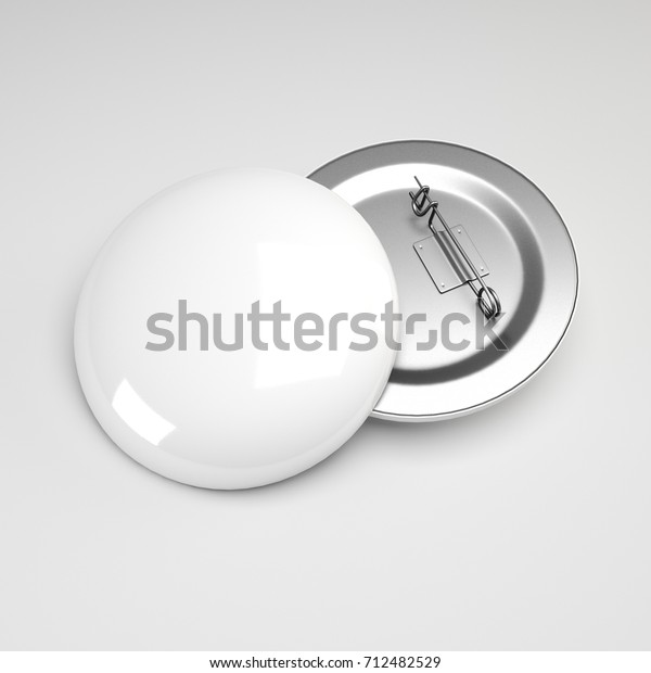 Blank White Button Badge Stack Mockup Stock Illustration 712482529