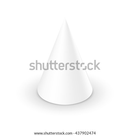 Blank White Cone On Background 3d Template
