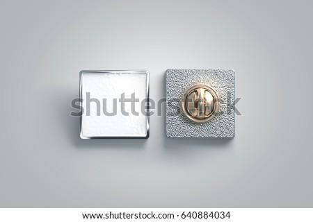 blank white enamel pin mock upのイラスト素材 640884034 shutterstock