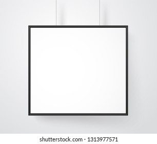 Blank white frame on the wall mockup. Ready for a content