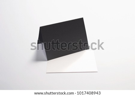 Blank white invitation greeting cards isolated stock illustration blank and white invitation greeting cards isolated on black to showcase your design presentation m4hsunfo