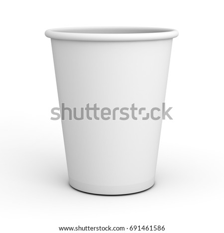 ebf17c95be1 Blank White Paper Cup Close Isolated Stock Illustration 691461586 ...