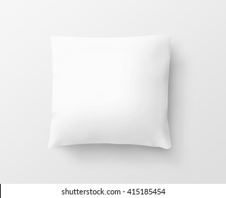 Blank white pillow case design mockup, isolated, clipping path,3d illustration. Clear pillowslip cover mock up template. Bed cotton shell ready for texture, pattern. Clean  empty sham.