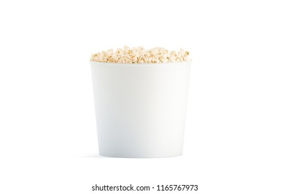 Blank white popcorn bucket cup straw stock illustration 1173251110 blank white popcorn bucket mockup isolated 3d rendering clear pop corn pail mockup fastfood maxwellsz