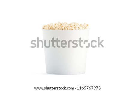 Royalty free stock illustration of blank white popcorn bucket mockup blank white popcorn bucket mockup isolated 3d rendering clear pop corn pail mockup fastfood maxwellsz