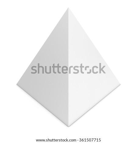 Blank White Pyramid Shape Isolated On Stock Illustration 361507715