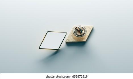 Metal Pin Badge Mockup Images, Stock Photos & Vectors