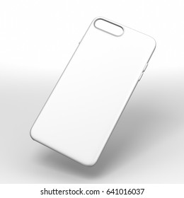 Blank white smartphone case mock up template for print design and branding purpose. 3d render illustration