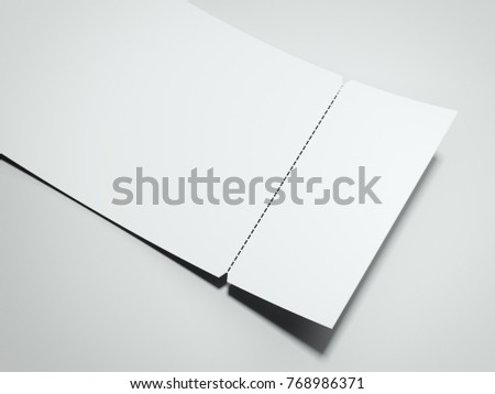 blank white tearoff ticket isolated onのイラスト素材 768986371