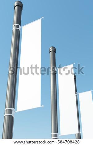 blank white vertical banner template flagのイラスト素材 584708428