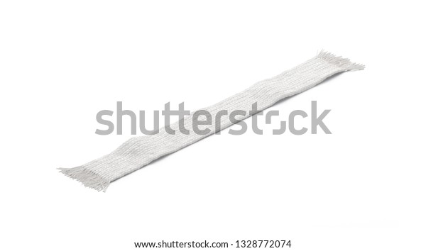 Blank White Wool Knitted Scarf Mockup Stock Illustration