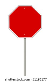 Blanks stop sign with room for copyspace