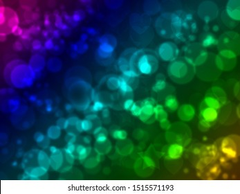Blau, rot, lila, grün, golden bokeh hintergrund