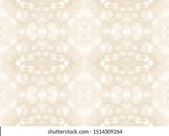 Bleached Tie Dye. Ivory Summer Folk. Seamless Floral Motif. Shibori Pattern. Double Ikat Decor. Almond Geo Tile. Tie Dye Backdrop. Ecru Frost Gray Repeat. Light Brown Background.