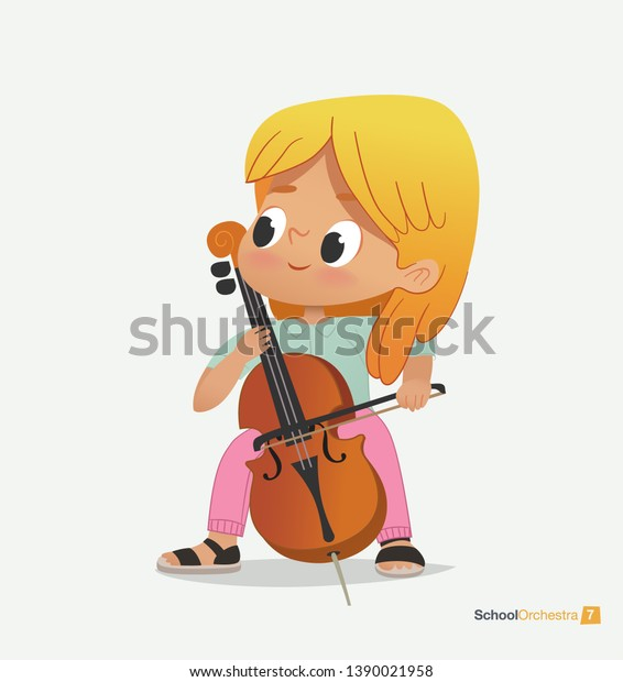 Sit And Joy Childrens Chair.Blond Girl Sit On Chair Play People Education Stock Image