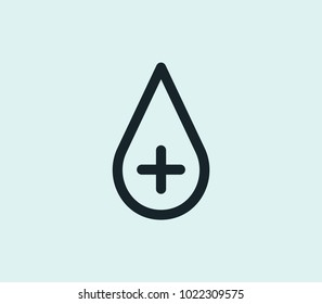 Blood icon line isolated on clean background. Blood icon concept drawing icon line in modern style.  illustration for your web site mobile logo app UI design.