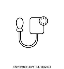Blood pressure icon. Element of blood donation icon for mobile concept and web apps. Thin line Blood pressure icon can be used for web and mobile on white background