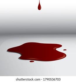 Blood splatter. Illustration decorative background design