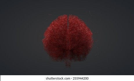 Blood vessels of a human brain - artist conception