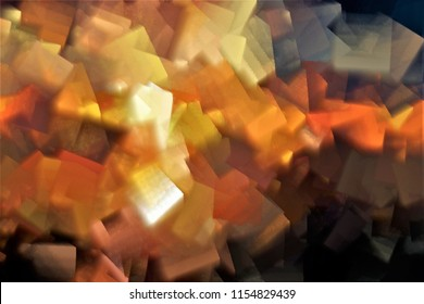 bloodstream, tribute to Pollock, Series of cubist abstract illustration of different colors, red,yellow, white, orange,