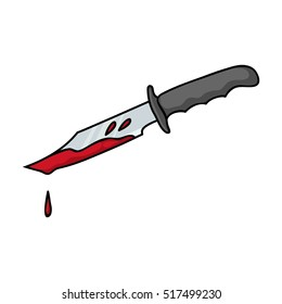 Cartoon Bloody Knife Png