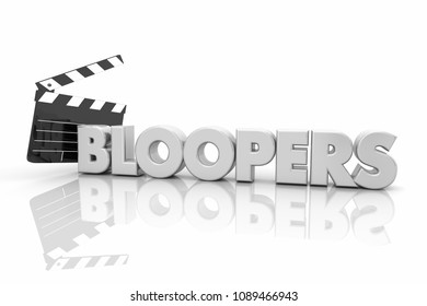 Bloopers Movie Film Clapper Board Mistakes 3d Render Illustration