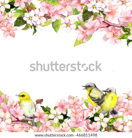 Royalty Free Stock Illustration Of Blossom Pink Sakura Flowers Song