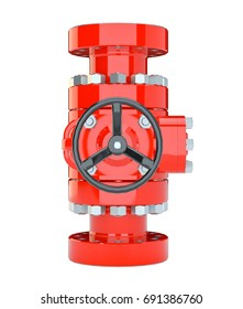 Blowout preventer, isolated on white. 3d illustration