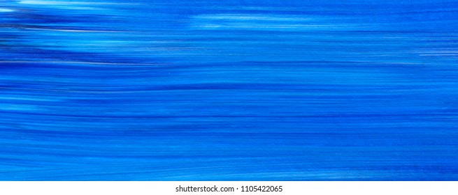Blue Abstract acrylic painting for use as background, texture, design element. Modern art with brush stroke texture