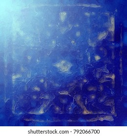 Blue abstract aquarium theme. Graduated tonal illustration for summer paper background.