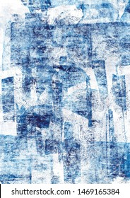 Blue Abstract Art Painting background.