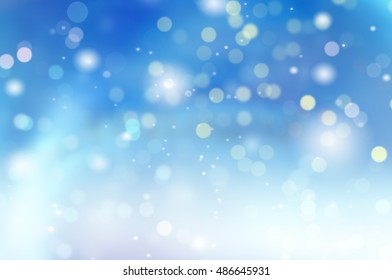 Blue abstract background blur.Holiday wallpaper.