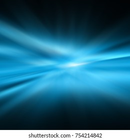 blue abstract background. Smooth waves and blur, gentle blur and light for your design