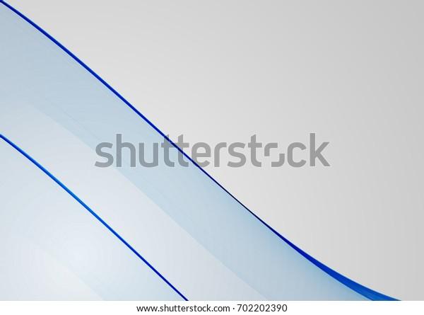 Blue abstract background for Your design. Smooth waved lines for brochure, website, flyer design. illustration