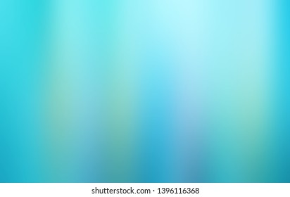 Blue abstract blurred cool color of underwater background. Blurred turquoise water backdrop. Blue  illustration for your graphic design, banner, summer or aqua poster