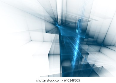 Blue abstract futuristic background. 3d illustration.