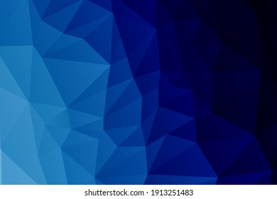 Blue abstract geometric triangular low poly style illustration graphic background.