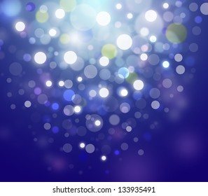 Blue abstract glowing bokeh background