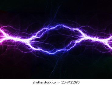 Blue abstract lightning, abstact electrical background