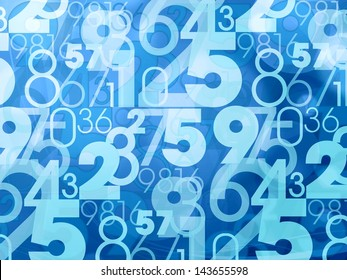 blue abstract numbers background