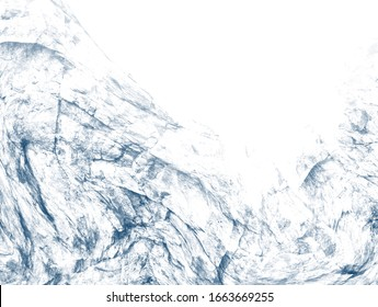 Blue abstract on white background. Isolated Illustration