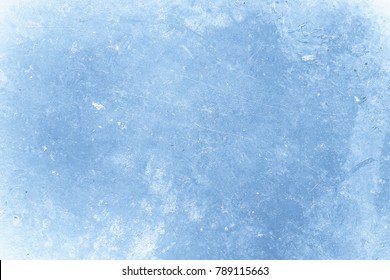 Blue abstract wallpaper. Grunge background. Ice skating tracks