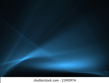Blue abstract waves on a black background.