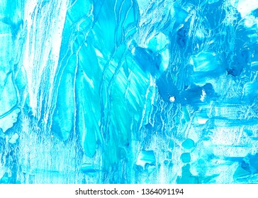 Blue acrylic abstract background. Texture for you design