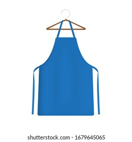 Blue apron 3d rendering isolated on a white background